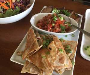 Roasted Pork Quesadilla Bites, Maple Roasted Tofu and Tomato Salsa. By City Farm Events Boston.