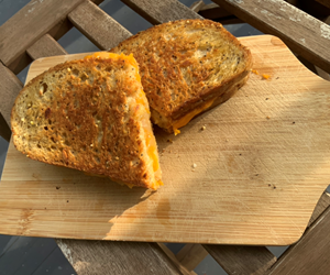 Perfect, simple grilled cheese on country bread. By City Farm Events Boston.